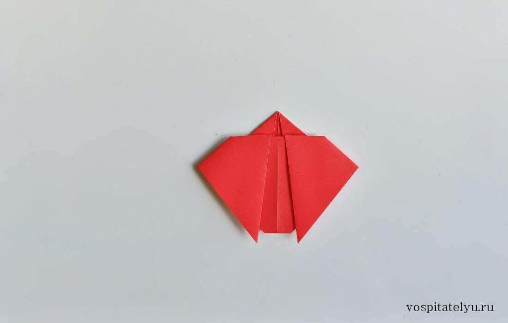 Оригами «Божья коровка» для детей