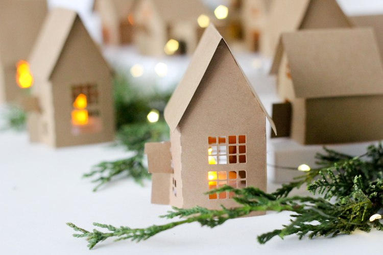 домики для адвент-календаря