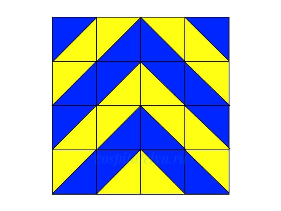 Кубики Никитина. Схема Ёлочка 2