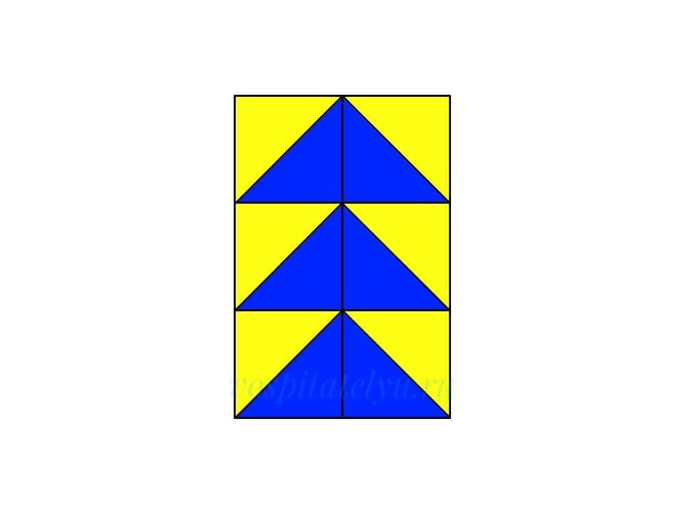 Кубики Никитина. Схема Ёлочка