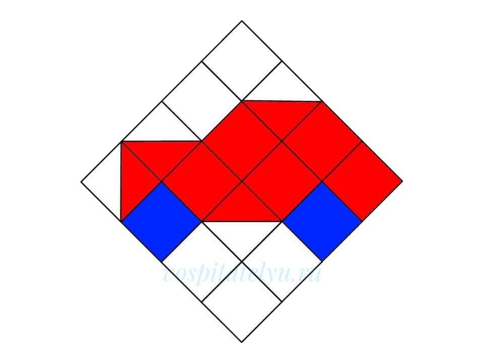 Кубики Никитина. Схема Автомобиль