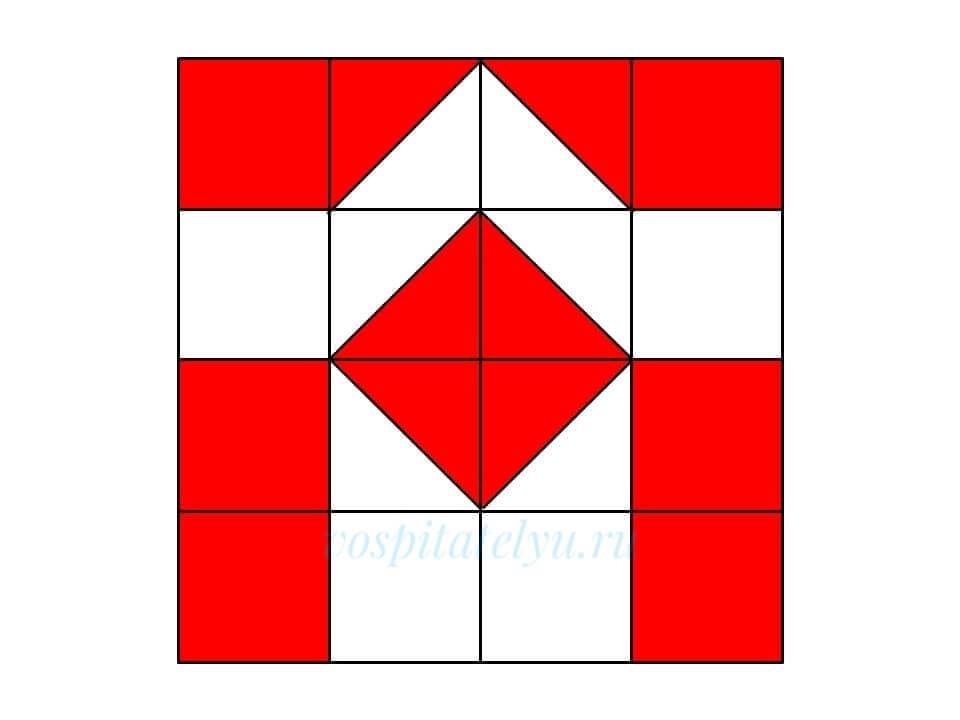 Кубики Никитина. Схема Арка
