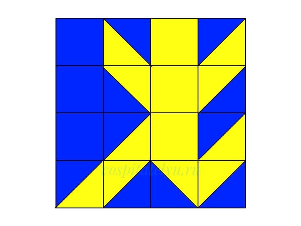 Кубики Никитина. Схема Бегун
