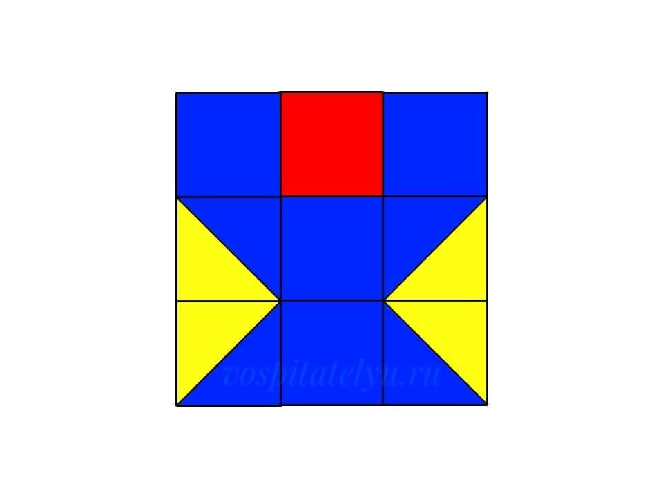 Кубики Никитина. Схема Бокал