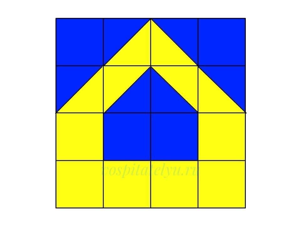 Кубики Никитина. Схема Домик 2