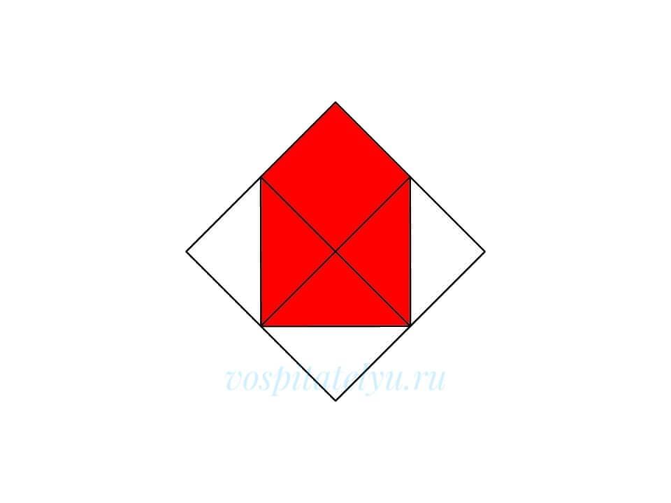 Кубики Никитина. Схема Домик
