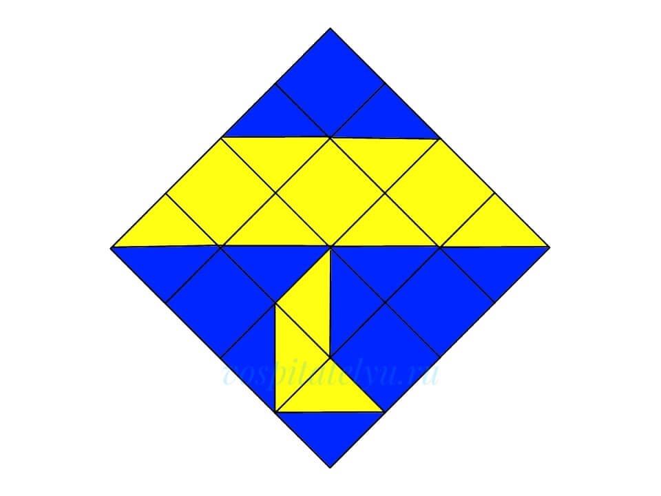 Кубики Никитина. Схема Зонтик