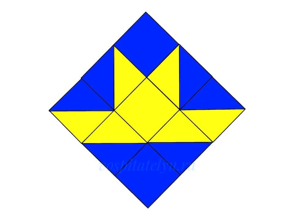 Кубики Никитина. Схема Кораблик