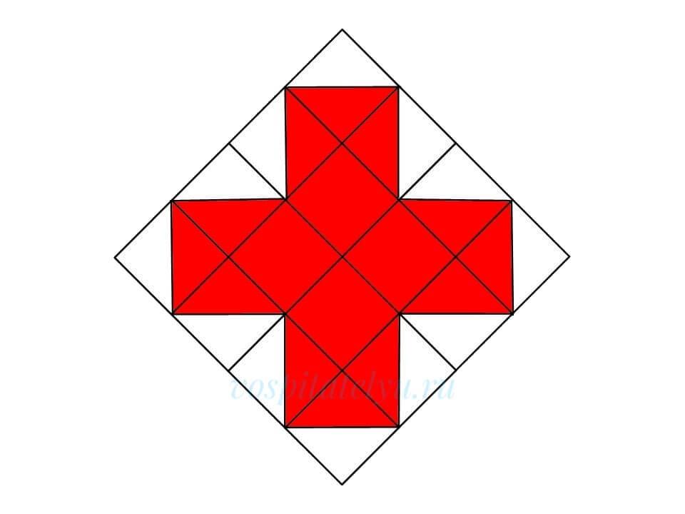 Кубики Никитина. Схема Красный крест