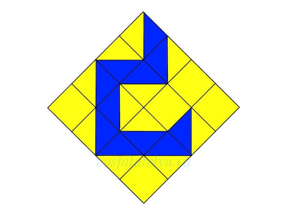 Кубики Никитина. Схема Крюк