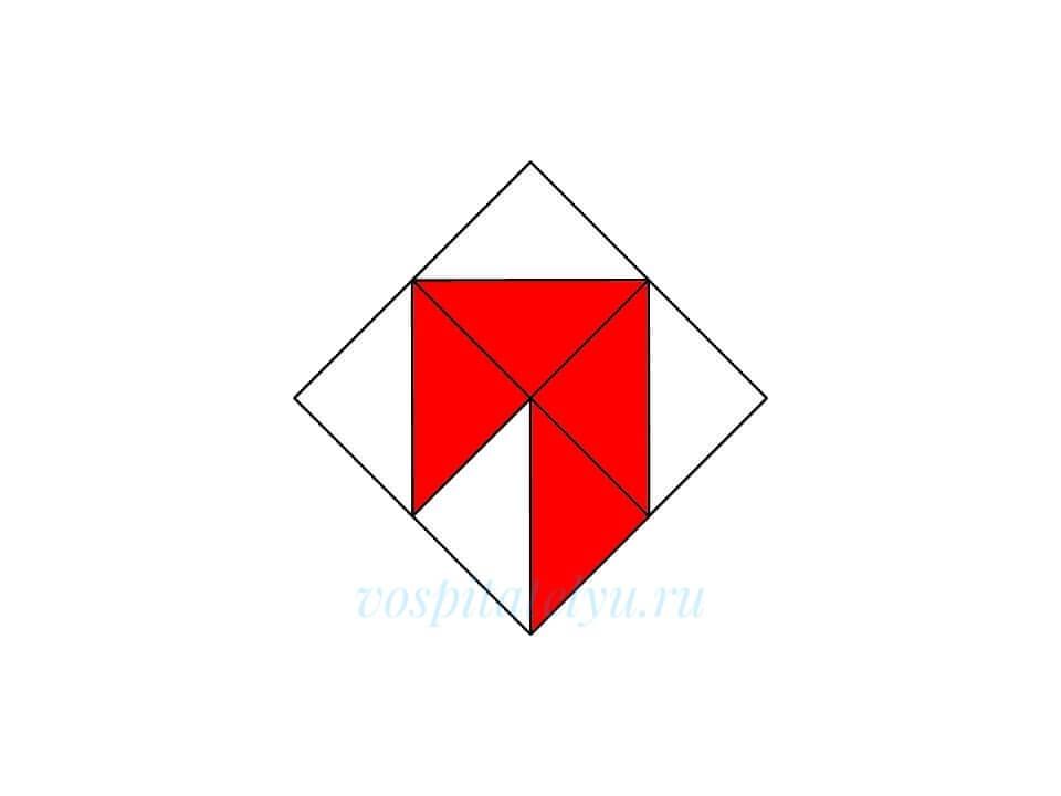Кубики Никитина. Схема Крючок