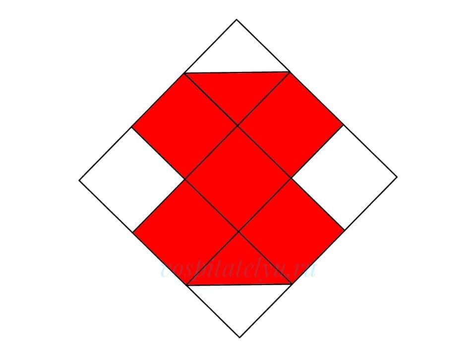 Кубики Никитина. Схема Купальник
