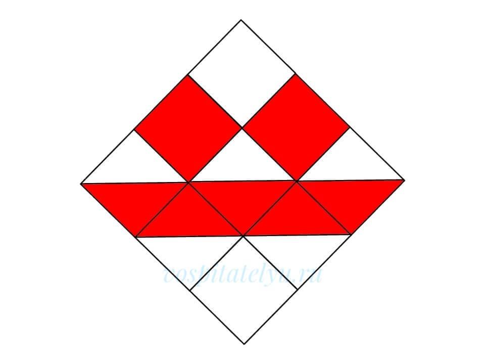 Кубики Никитина. Схема Лодочка