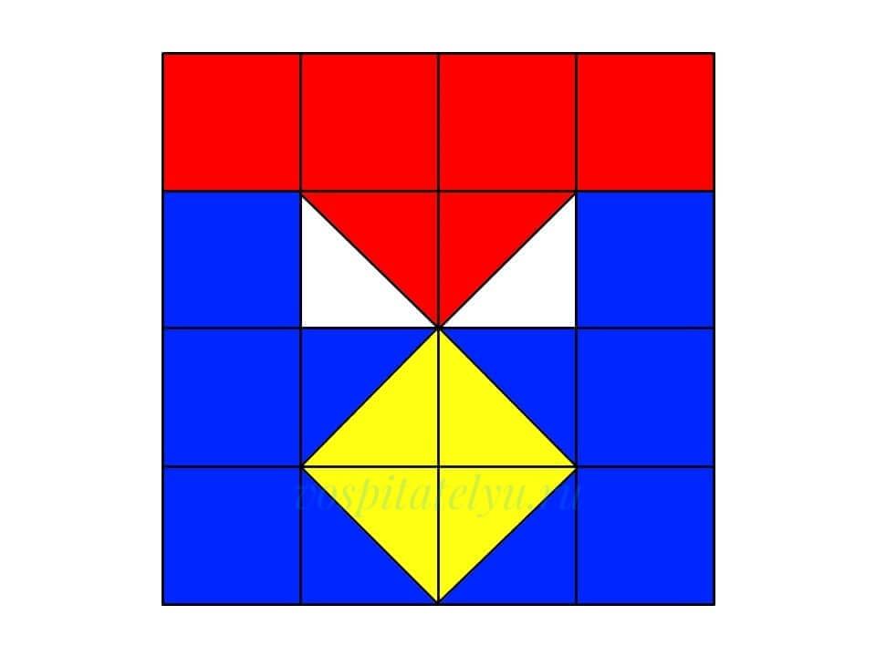 Кубики Никитина. Схема Медаль