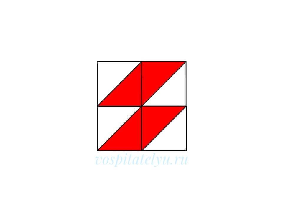 Кубики Никитина. Схема Молния