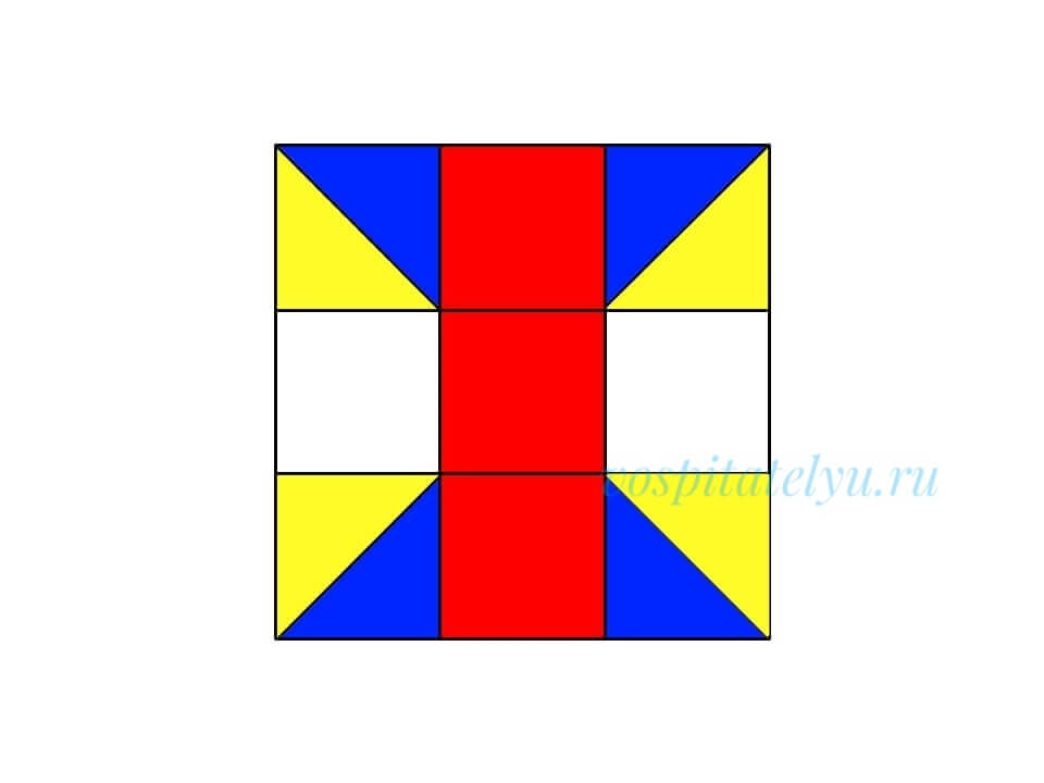 Кубики Никитина. Схема бабочка