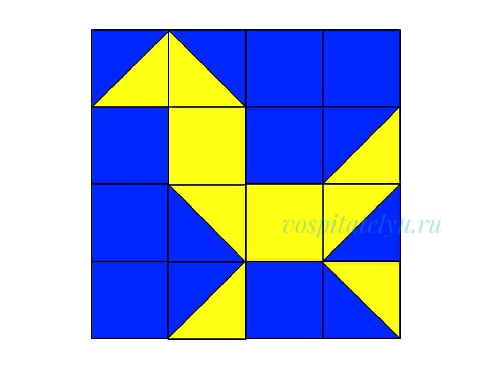 кубики Никитина. Схема гусёнок
