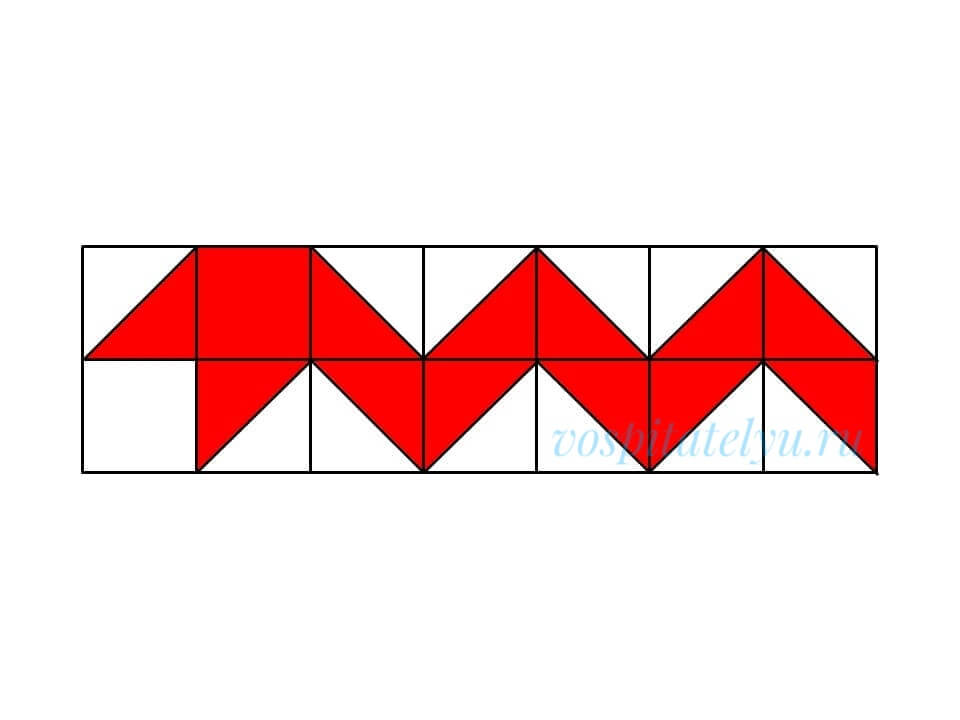 кубики Никитина. Схема змея