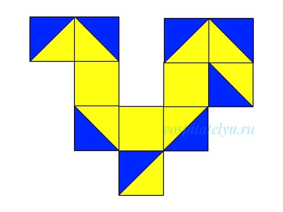 кубики Никитина. Схема золотой петушок