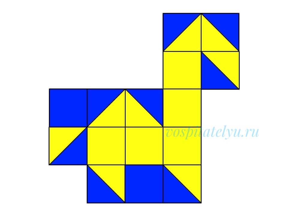 кубики Никитина. Схема конёк горбунок