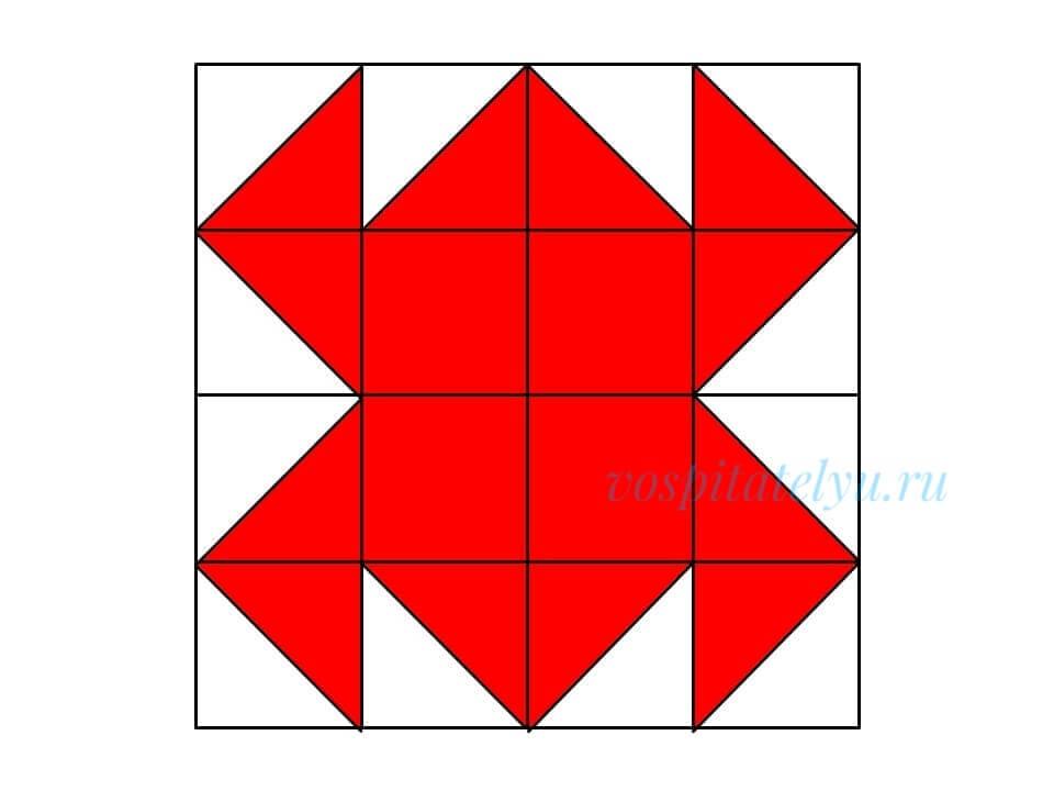 кубики Никитина. Схема краб