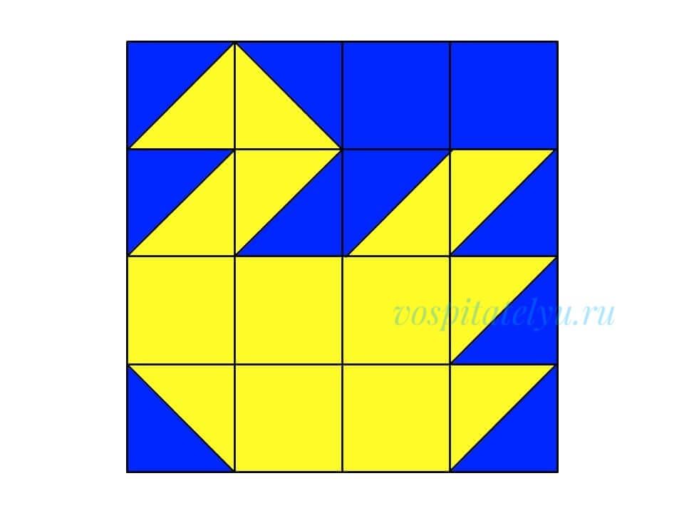 кубики Никитина. Схема лебедь