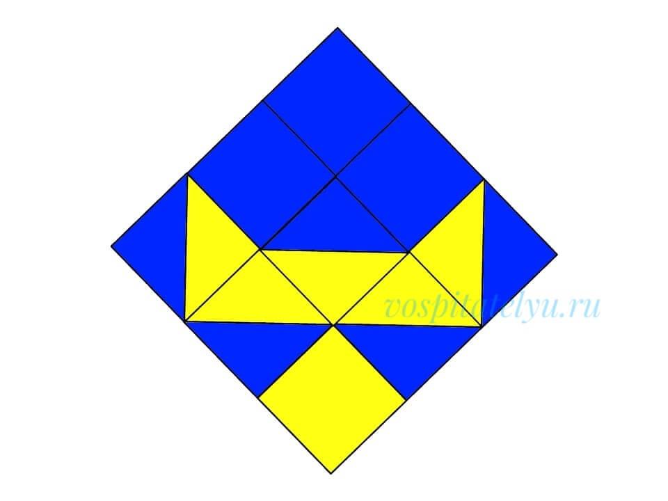 кубики Никитина. Схема олень