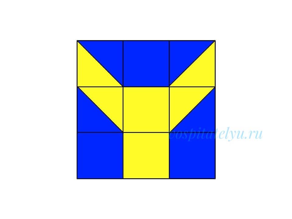 кубики Никитина. Схема ослик