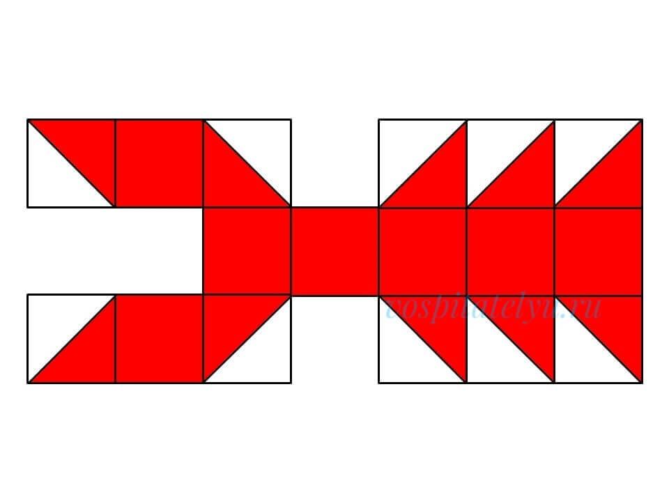 кубики Никитина. Схема рак