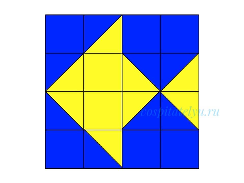 кубики Никитина. Схема рыба