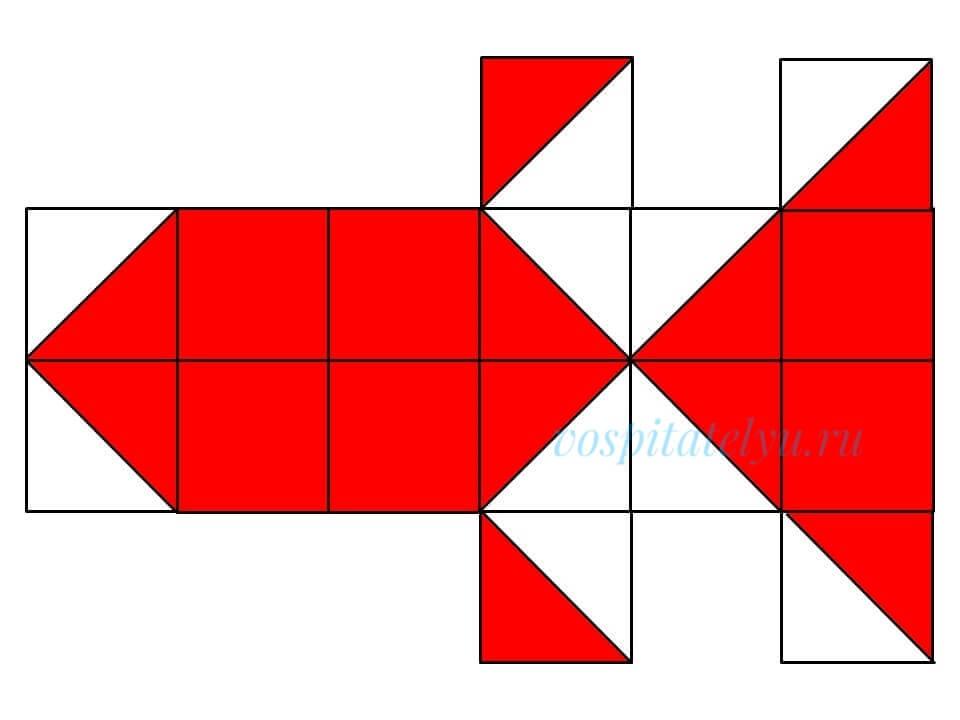 кубики Никитина. Схема рыбка