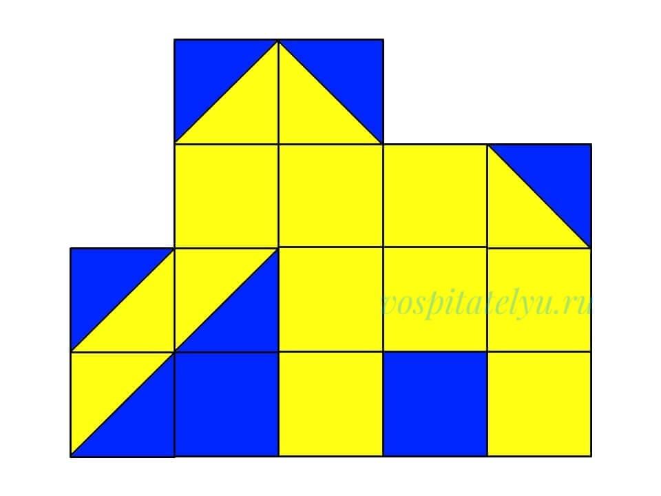 кубики Никитина. Схема слон