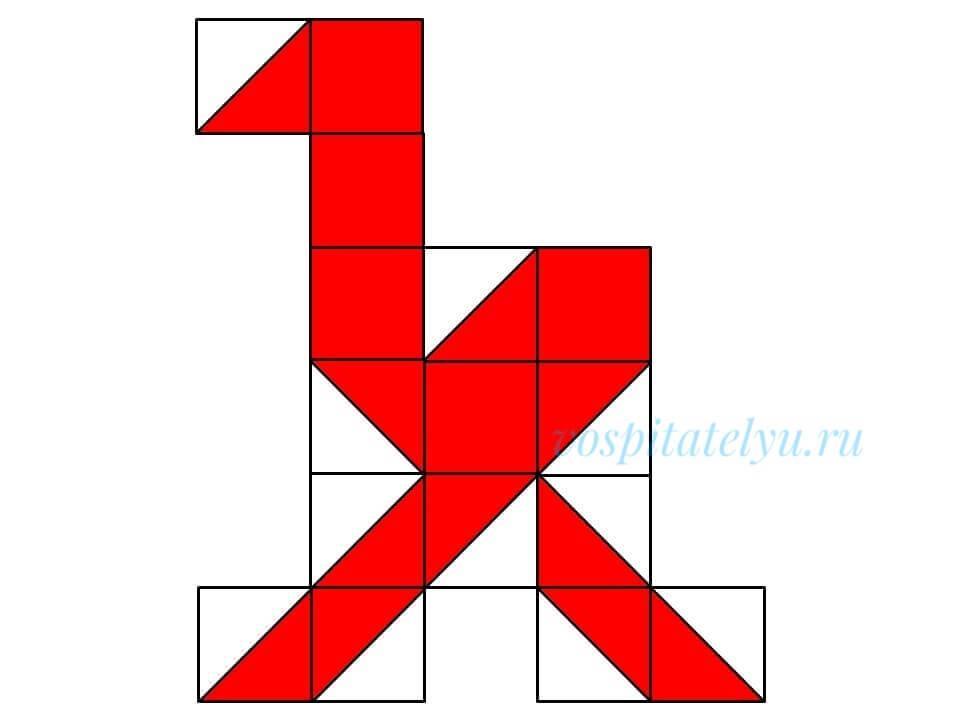кубики Никитина. Схема страус