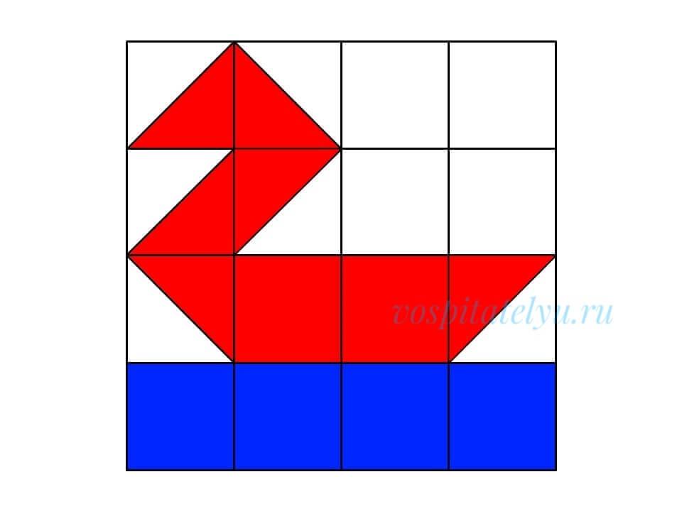 кубики Никитина. Схема уточка