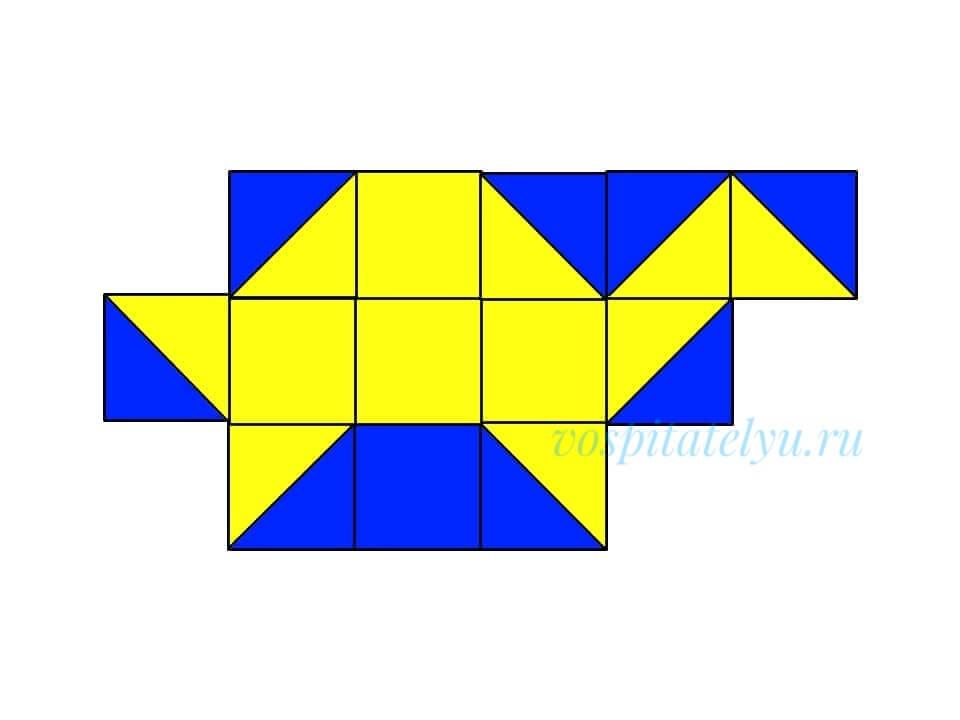 кубики Никитина. Схема черепаха